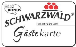 Konus Gästekarte für den Schwarzwald freie Fahrt öffentliche Verkehrsmittel Karlsruhe Freudenstadt Baiersbronn Schwarzwald Hotel Sonnenhof Wandern Biken Sauna Schwimmbad Ruheraum Bar Terrass